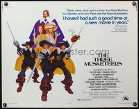 4v922 THREE MUSKETEERS 1/2sh '74 Michael York, Alexandre Dumas, Gomez art!