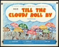 4v925 TILL THE CLOUDS ROLL BY 1/2sh R62 great art of 13 all-stars with umbrellas by Al Hirschfeld!