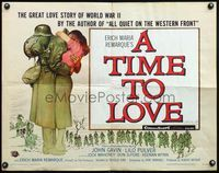 4v927 TIME TO LOVE & A TIME TO DIE 1/2sh '58 a great love story of WWII by Erich Maria Remarque!