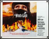 4v983 WIND & THE LION 1/2sh '75 art of Sean Connery & Candice Bergen, directed by John Milius!