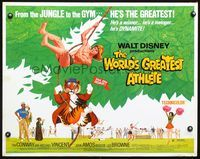 4v990 WORLD'S GREATEST ATHLETE 1/2sh '73 Walt Disney, Jan-Michael Vincent goes from jungle to gym!