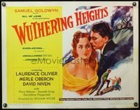 4v993 WUTHERING HEIGHTS 1/2sh R55 completely different art of Laurence Olivier & Merle Oberon!