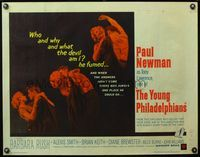 4v997 YOUNG PHILADELPHIANS 1/2sh '59 rich lawyer Paul Newman defends friend from murder charges!