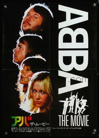 4v006 ABBA: THE MOVIE Japanese '78 Swedish pop rock, headshots of all 4 band members!