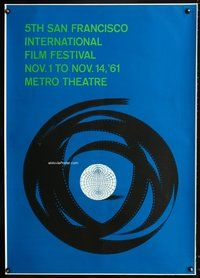 5a001 5TH SAN FRANCISCO INTERNATIONAL FILM FESTIVAL special poster '61 cool art by Saul Bass!
