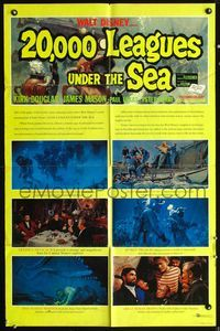 5e004 20,000 LEAGUES UNDER THE SEA style B 1sh R63 Jules Verne underwater classic, Kirk Douglas!