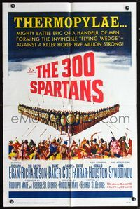 5e008 300 SPARTANS 1sh '62 Richard Egan, the mighty battle of Thermopylae!