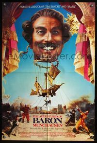 5e013 ADVENTURES OF BARON MUNCHAUSEN 1sh '89 directed by Terry Gilliam, John Neville & Uma Thurman!