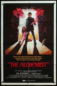 5e017 ALCHEMIST int'l 1sh '85 directed by Charles Band, Robert Ginty, great horror art!