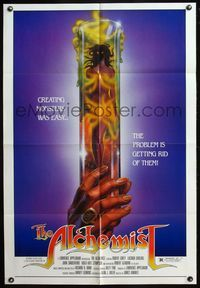 5e016 ALCHEMIST 1sh '85 directed by Charles Band, sexy monster in a test tube art!