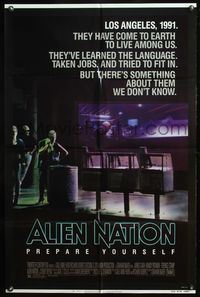 5e020 ALIEN NATION 1sh '88 they've come to Earth to live among us, they learned our language!