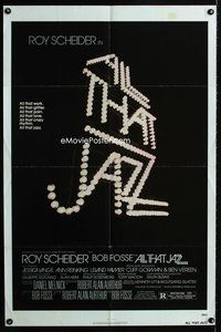 5e023 ALL THAT JAZZ 1sh '79 Roy Scheider, Jessica Lange, Bob Fosse musical!