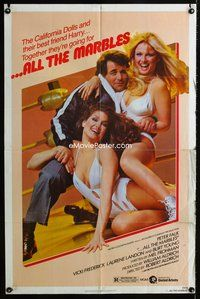 5e024 ALL THE MARBLES 1sh '81 great image of Peter Falk & sexy female wrestlers!