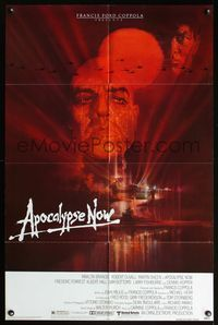 5e041 APOCALYPSE NOW 1sh '79 Francis Ford Coppola, classic Bob Peak art of Marlon Brando!
