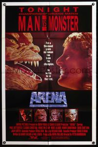 5e045 ARENA 1sh '89 Peter Manoogian directed, Paul Satterfield, cheesy sci-fi!