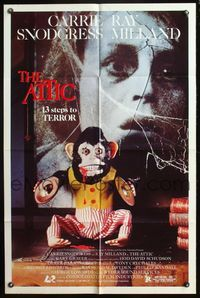 5e055 ATTIC 1sh '80 Carrie Snodgress, Ray Milland, creepy monkey, 13 steps to terror!