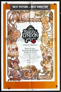 5e067 BARRY LYNDON 1sh '75 Stanley Kubrick, Ryan O'Neal, historical romantic war melodrama!