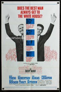 5e077 BEST MAN 1sh '64 Henry Fonda & Cliff Robertson running for President of the United States!