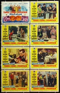5h005 3 COINS IN THE FOUNTAIN 8 LCs '54 Clifton Webb, Dorothy McGuire, Jean Peters, Louis Jourdan