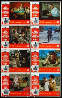 5h007 5 CARD STUD 8 LCs '68 cowboys Dean Martin & Robert Mitchum play poker!