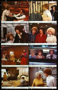 5h011 9 TO 5 8 color 11x14s '80 Dolly Parton, Jane Fonda, Lily Tomlin, Dabney Coleman is a bad boss!