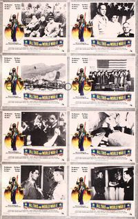 5h014 ALL THIS & WORLD WAR 2 8 LCs '76 The Beatles, great hippie w/gas mask & bombers border art!