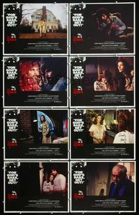 5h015 AMITYVILLE HORROR 8 signed LCs '79 by Samuel Z. Arkoff, AIP, for God's sake get out!