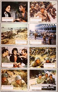 5h020 ANZIO 8 LCs '68 Robert Mitchum, Peter Falk, Anthony Steel, Robert Ryan, WWII!