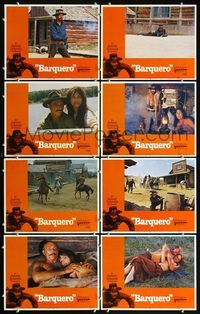 5h034 BARQUERO 8 LCs '70 Lee Van Cleef, Warren Oates with gun, western gunslinger action!