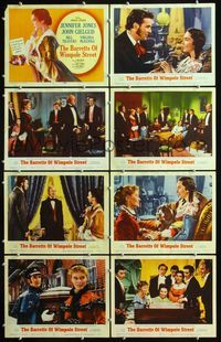 5h035 BARRETTS OF WIMPOLE STREET 8 LCs '57 great art of Jennifer Jones as Elizabeth Browning!