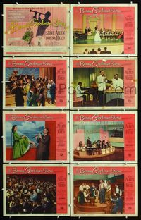 5h047 BENNY GOODMAN STORY 8 LCs '56 Steve Allen as band leader, Donna Reed & Gene Krupa!