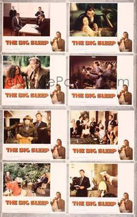 5h051 BIG SLEEP 8 LCs '78 border art of Robert Mitchum & sexy Candy Clark by Richard Amsel!