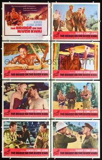 5h064 BRIDGE ON THE RIVER KWAI 8 LCs R63 William Holden, Alec Guinness, David Lean classic!