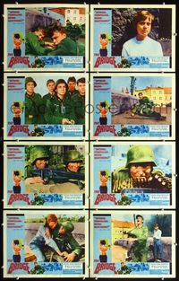 5h063 BRIDGE 8 LCs '61 German teens in World War II, Folker Bohnet, Fritz Wepper!