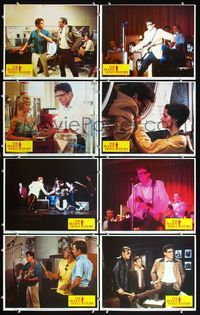 5h073 BUDDY HOLLY STORY 8 LCs '78 great image of Gary Busey performing on stage with guitar!