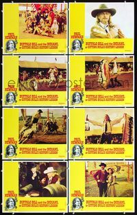 5h074 BUFFALO BILL & THE INDIANS 8 LCs '76 Burt Lancaster, Paul Newman as William F. Cody!