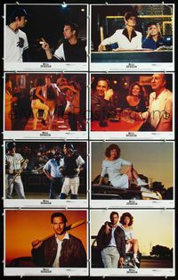 5h076 BULL DURHAM 8 LCs '88 great images of baseball player Kevin Costner & sexy Susan Sarandon!