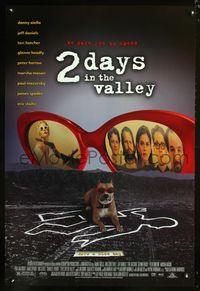 5m045 2 DAYS IN THE VALLEY 1sh '96 sexy Charlize Theron, Jeff Daniels, Teri Hatcher!