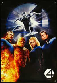 5m049 4: RISE OF THE SILVER SURFER teaser 1sh '07 Jessica Alba, Michael Chiklis, Chris Evans!