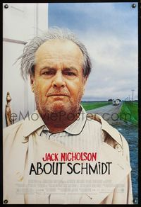 5m058 ABOUT SCHMIDT DS 1sh '02 great haggard Jack Nicholson image!