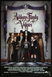 5m064 ADDAMS FAMILY VALUES 1sh '93 Christina Ricci, the family just got a little stranger!