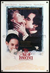 5m069 AGE OF INNOCENCE 1sh '93 Martin Scorsese, Daniel Day-Lewis, Winona Ryder