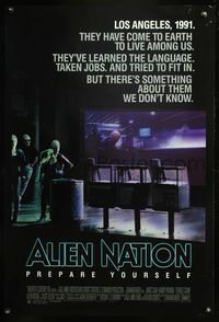 5m075 ALIEN NATION 1sh '88 they've come to Earth to live among us, they learned our language!