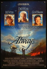 5m005 ALWAYS DS signed 1sh '89 signed by Richard Dreyfuss!