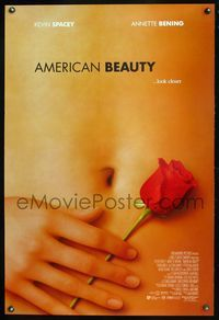 5m080 AMERICAN BEAUTY int'l DS 1sh '99 Sam Mendes Academy Award winner, sexy close up image!