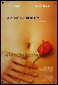 5m079 AMERICAN BEAUTY DS 1sh '99 Sam Mendes Academy Award winner, sexy close up image!