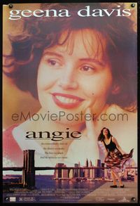 5m087 ANGIE DS 1sh '94 close-up of Geena Davis, the miracles we create, Disney!