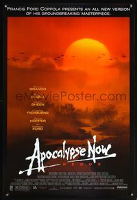 5m090 APOCALYPSE NOW 1sh R01 Francis Ford Coppola, classic art of helicopters over jungle!