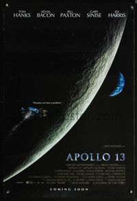 5m091 APOLLO 13 int'l DS advance 1sh '95 directed by Ron Howard, Houston we have a problem!