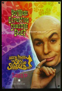 5m095 AUSTIN POWERS: THE SPY WHO SHAGGED ME teaser Dr. Evil style 1sh '99 Mike Myers as bad guy!
